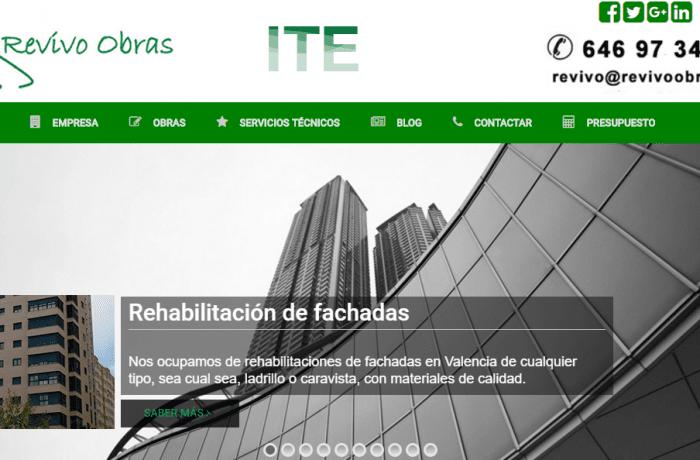 Diseño web servicios de rehabilitación y reformas en Valencia