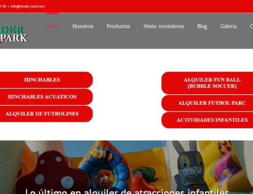 Web para empresas de alquiler de atracciones