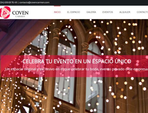 Diseño página Web Salón eventos Valencia