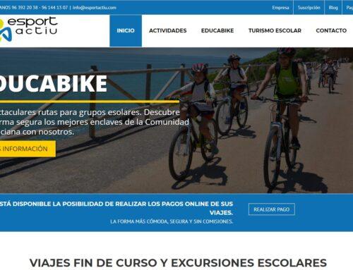 Diseño página Web turismo escolar