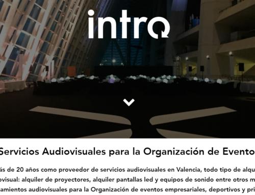 Diseño Web Grupo Intro, Alquiler audiovisuales Valencia