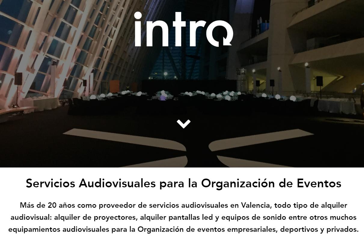 Alquiler audiovisuales Valencia